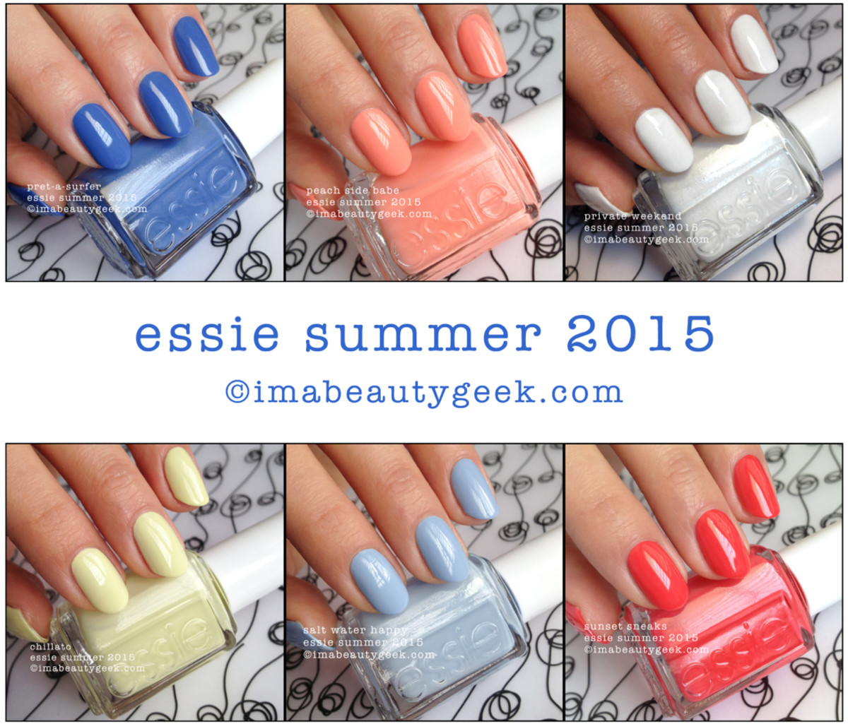 Essie Summer 2015 Swatches and Review Beautygeeks