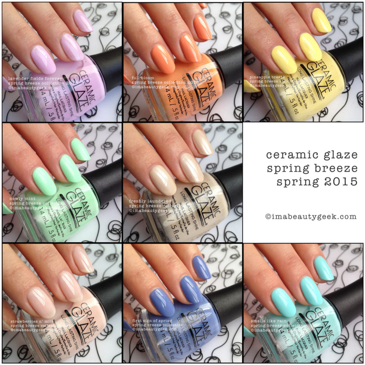 Ceramic Glaze Spring Breeze Nail Polish Collection Spring 2015