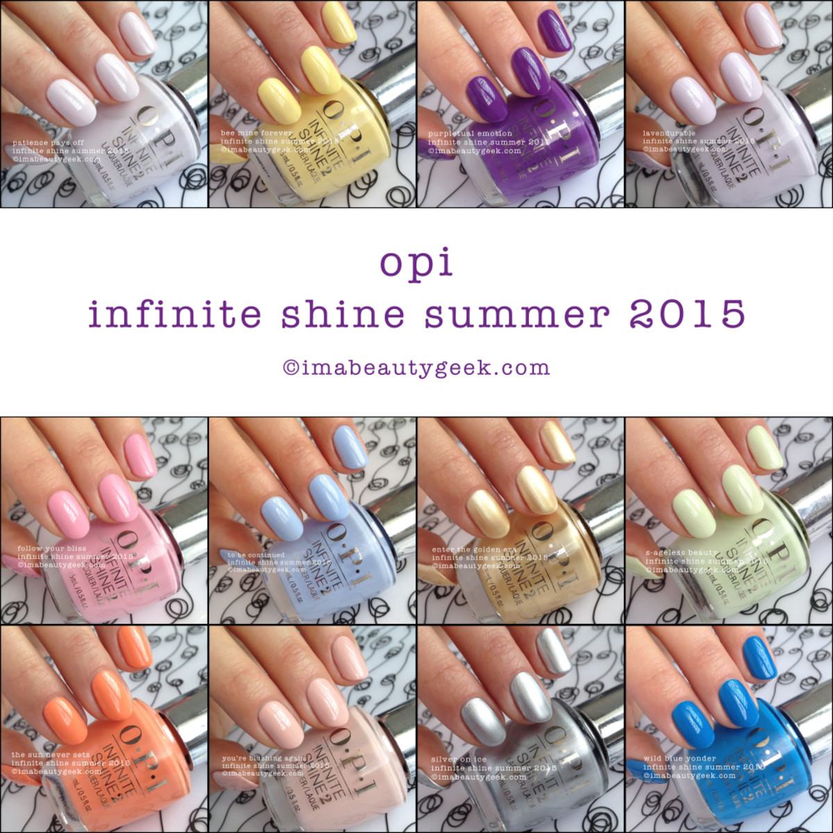 OPI Infinite Shine Swatches Summer 2015