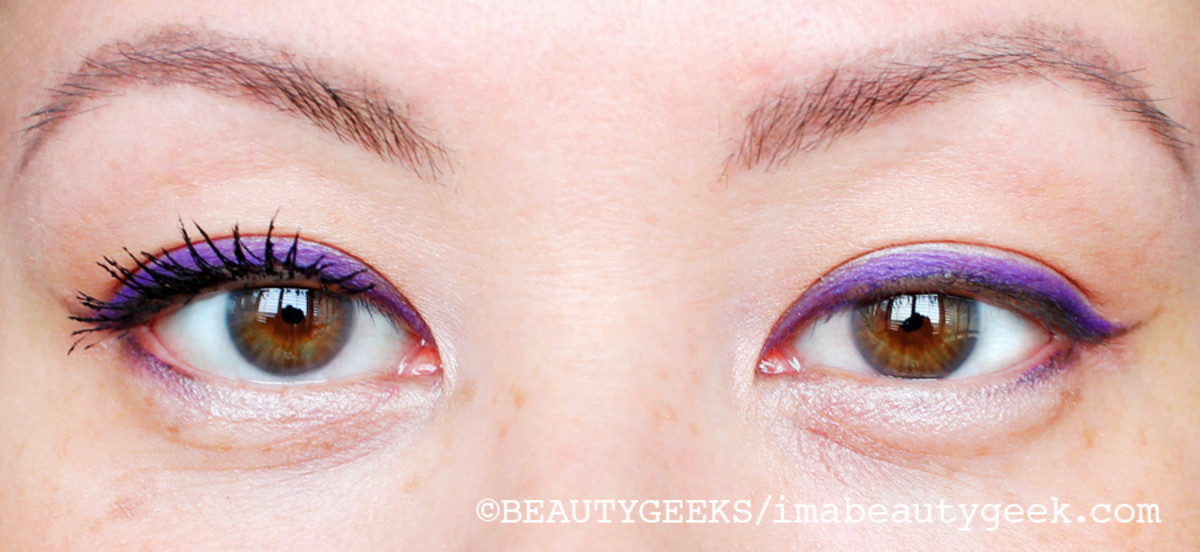 Miss Manga eye makeup tutorial L'Oreal Paris Infallible Silkissime Pure Purple.jpg