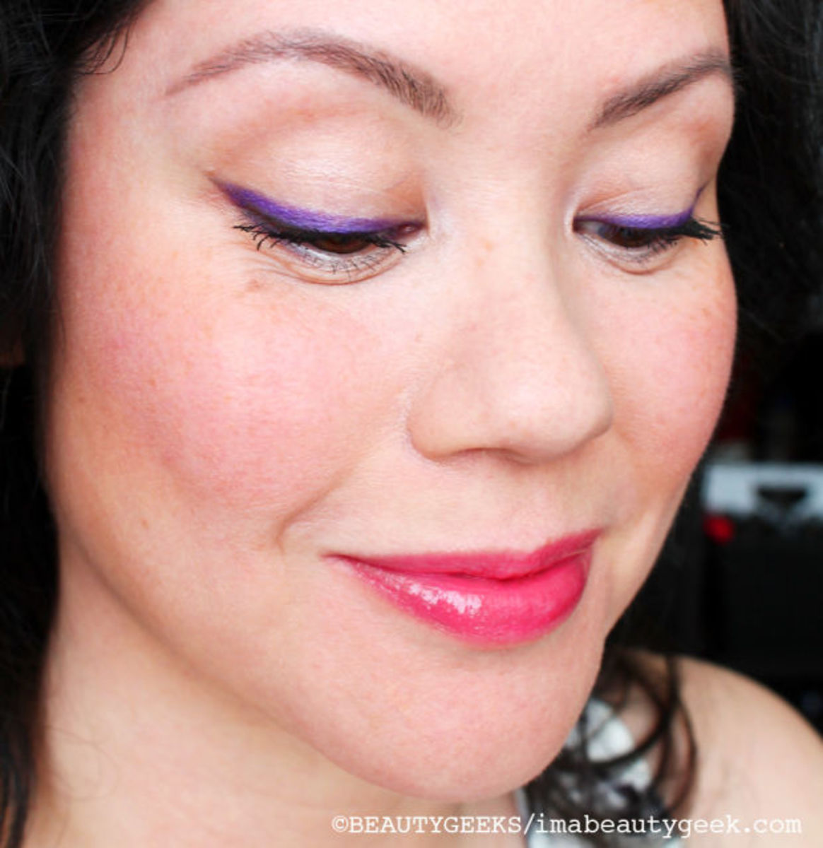 Yep, I'm more than 40, and I'm wearing manga-inspired makeup. Love this Pure Purple liner and Miss Manga Mascara too!