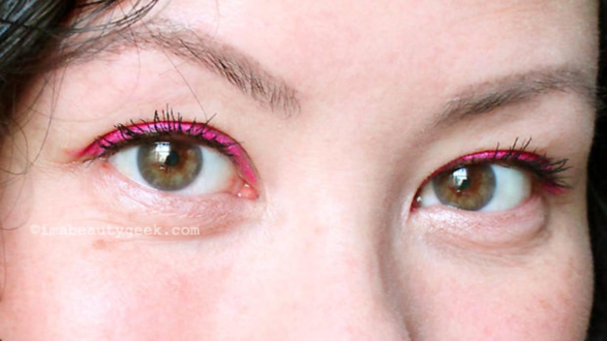 Best waterproof eyeliners: Shu Uemura Drawing Pencil in Pink!