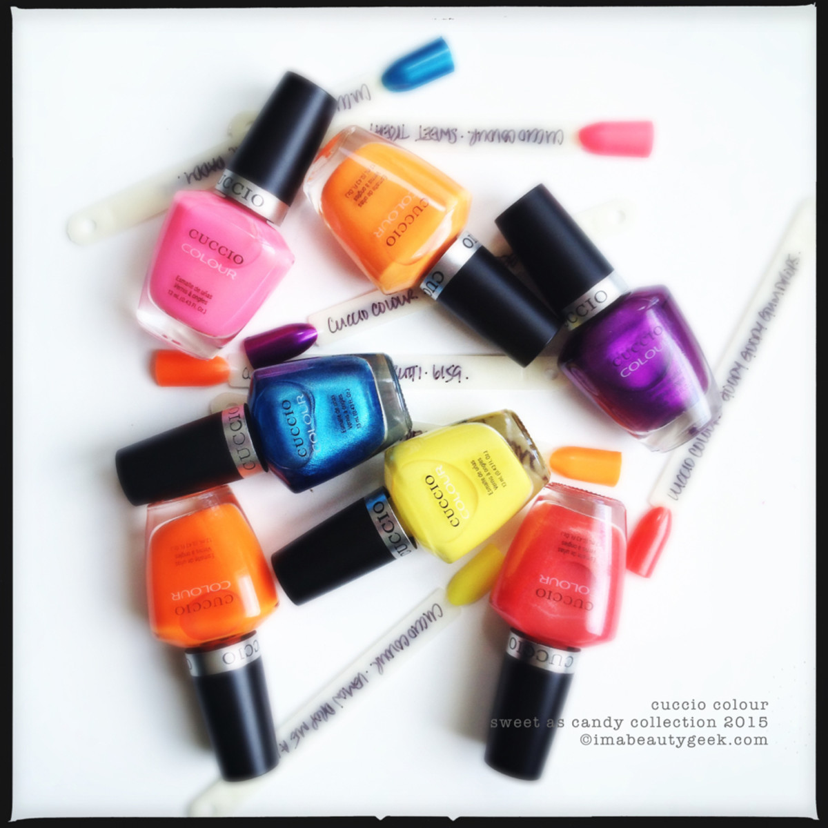 Cuccio Colour Nail Polish Sweet as Candy Collection 2015