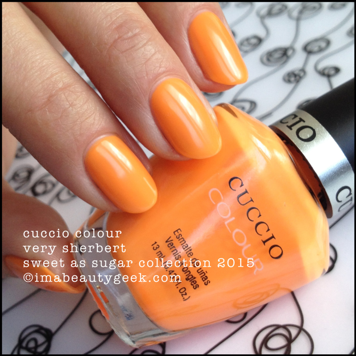 Cuccio Colour Very Sherbert Sweet as Sugar Collection 2015