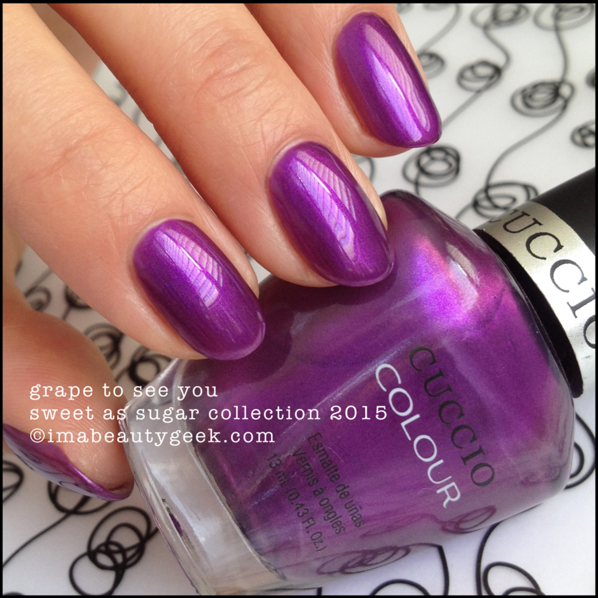 Cuccio Colour Nail Polish Grape To See You Sweet as Sugar Collection 2015