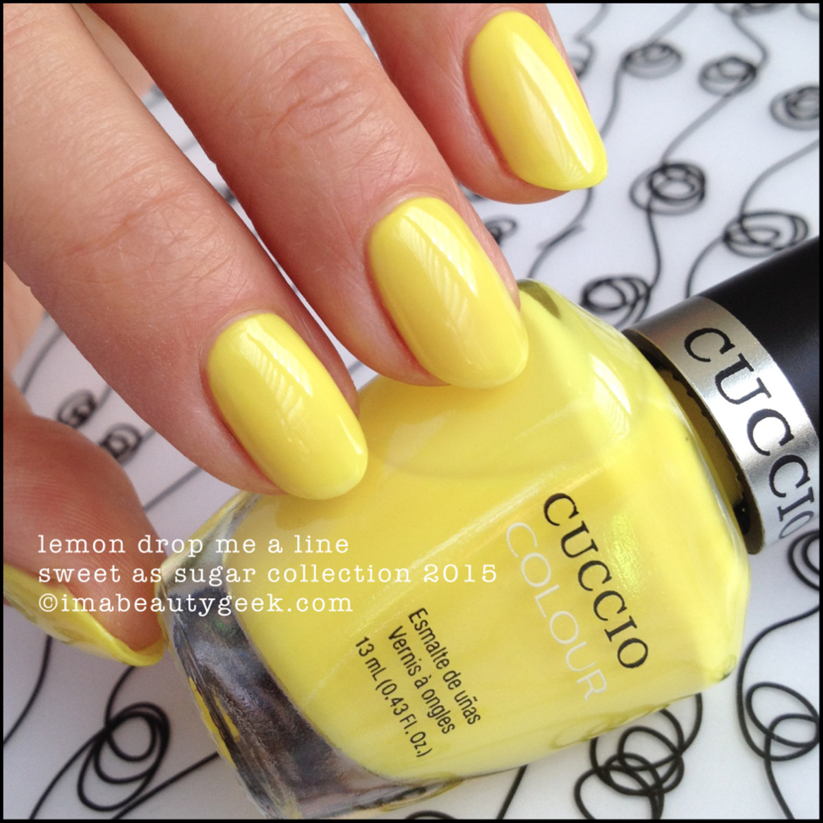 Cuccio Colour Nail Polish Lemon Drop Me a Line Sweet as Sugar 2015