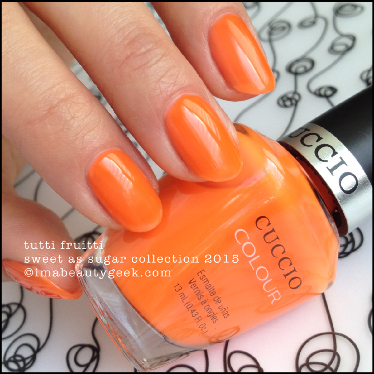 Cuccio Colour Nail Polish Tutti Fruitti Sweet as Sugar Collection 2015