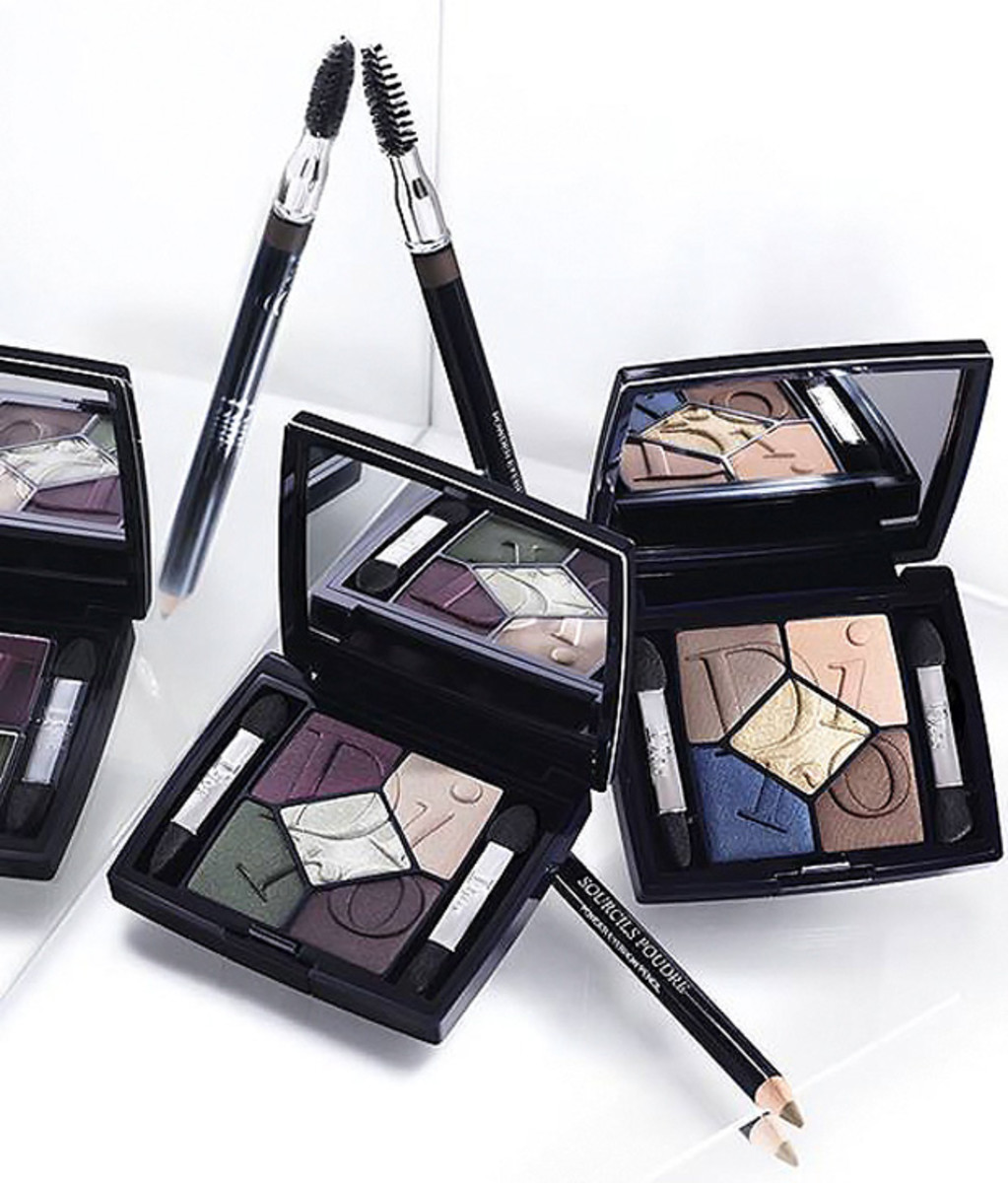 Dior Cosmopolite Fall 2015_ 5 colour eyeshadow palettes