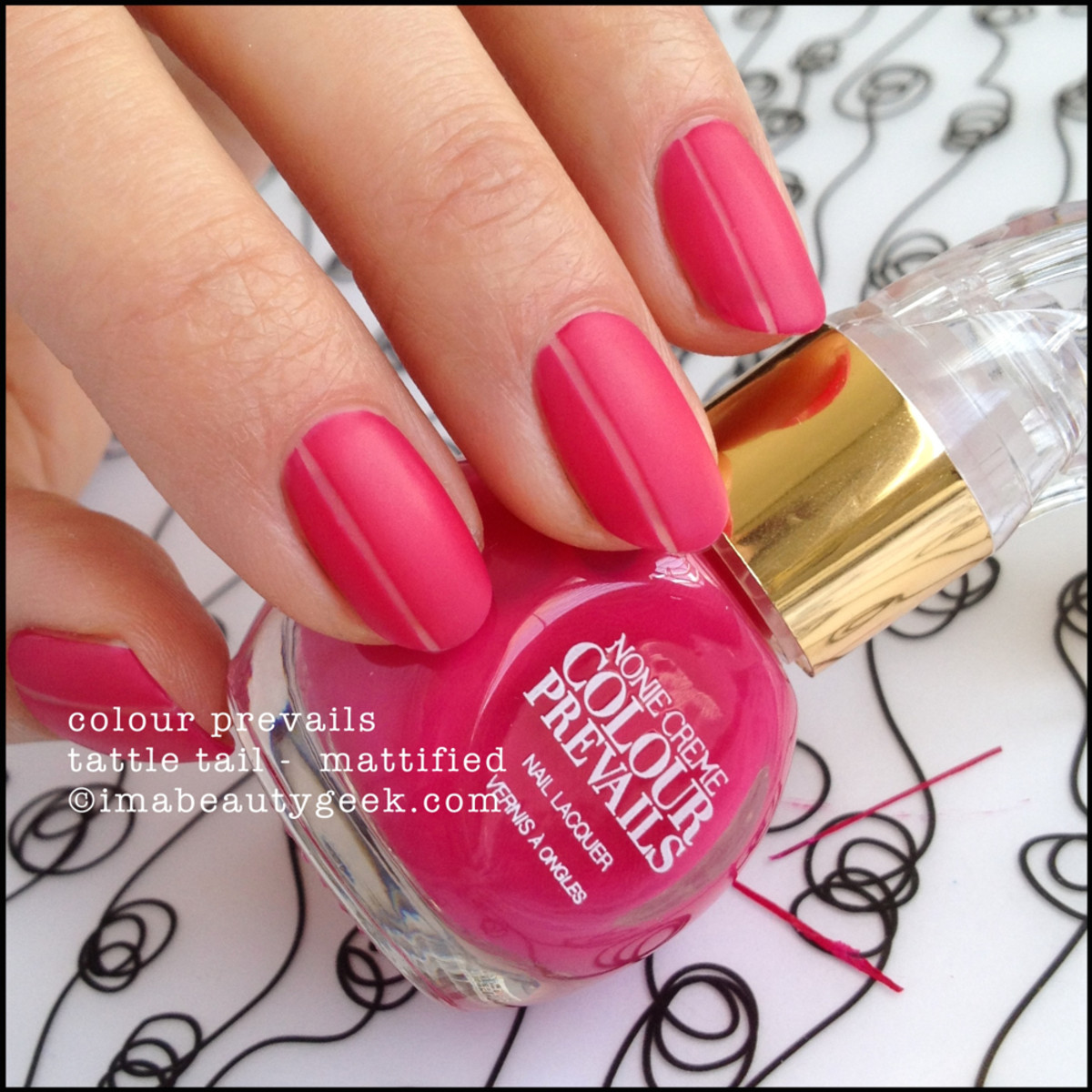 Colour Prevails Tattle Tail Mattified Nail Polish by Nonie Creme
