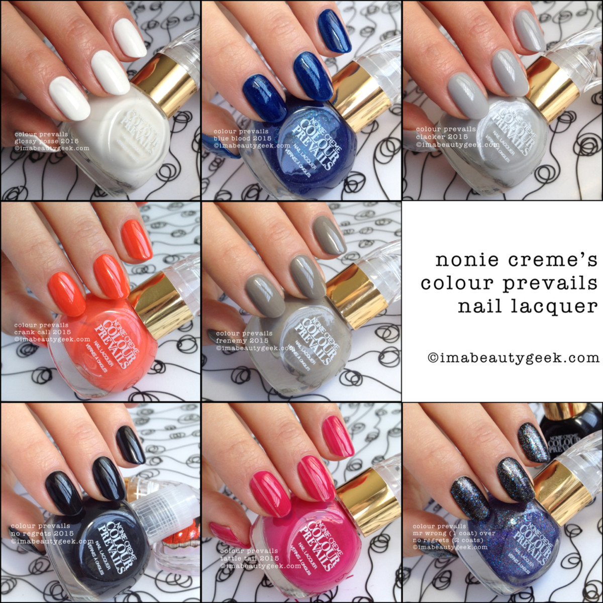 Colour Prevails Nail Polish Swatches Composite