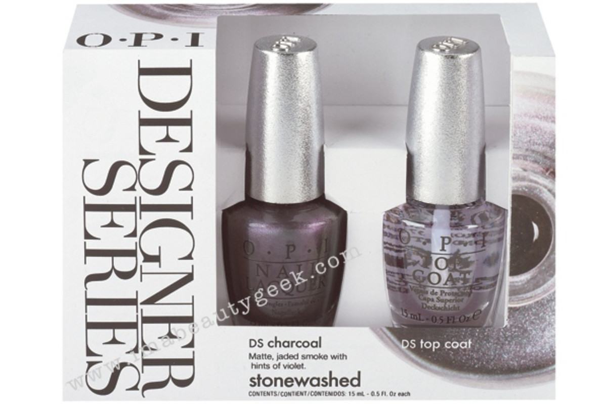 OPI Designer Series 2015 Charcoal Box Shot