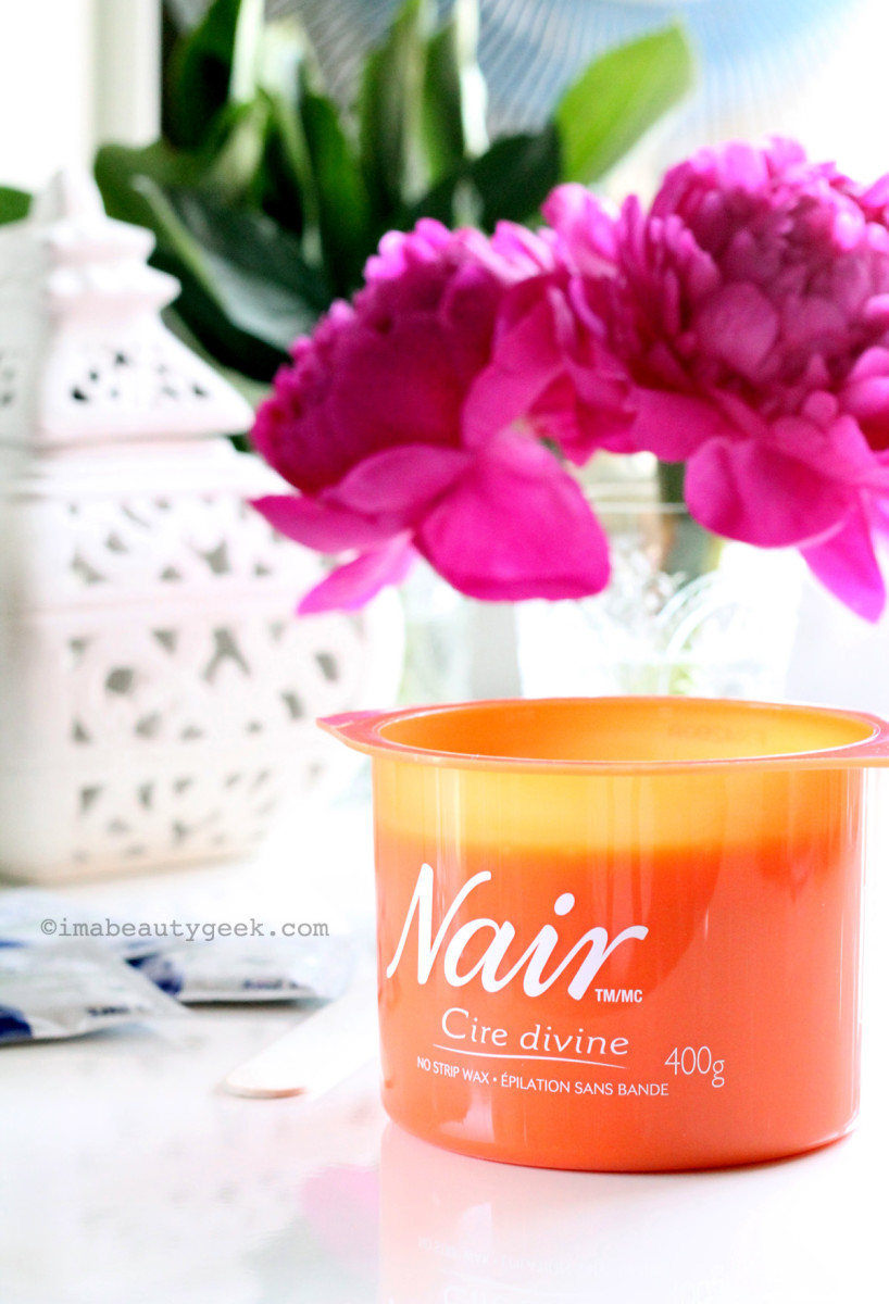 Nair Cire Divine Bye Bye Ouch Microwaveable Resin Wax with Moroccan Argan Oil