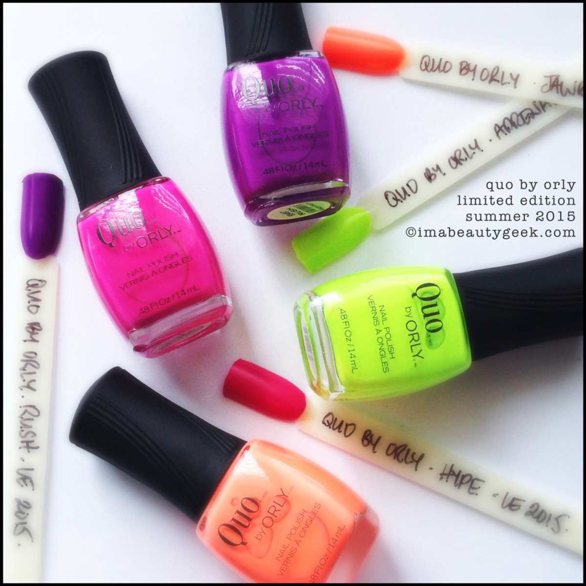 Quo By Orly Summer 2015 Nail Polish Limited Edition