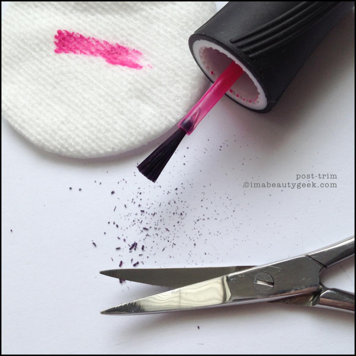How to trim a nail polish brush_2 Beautygeeks