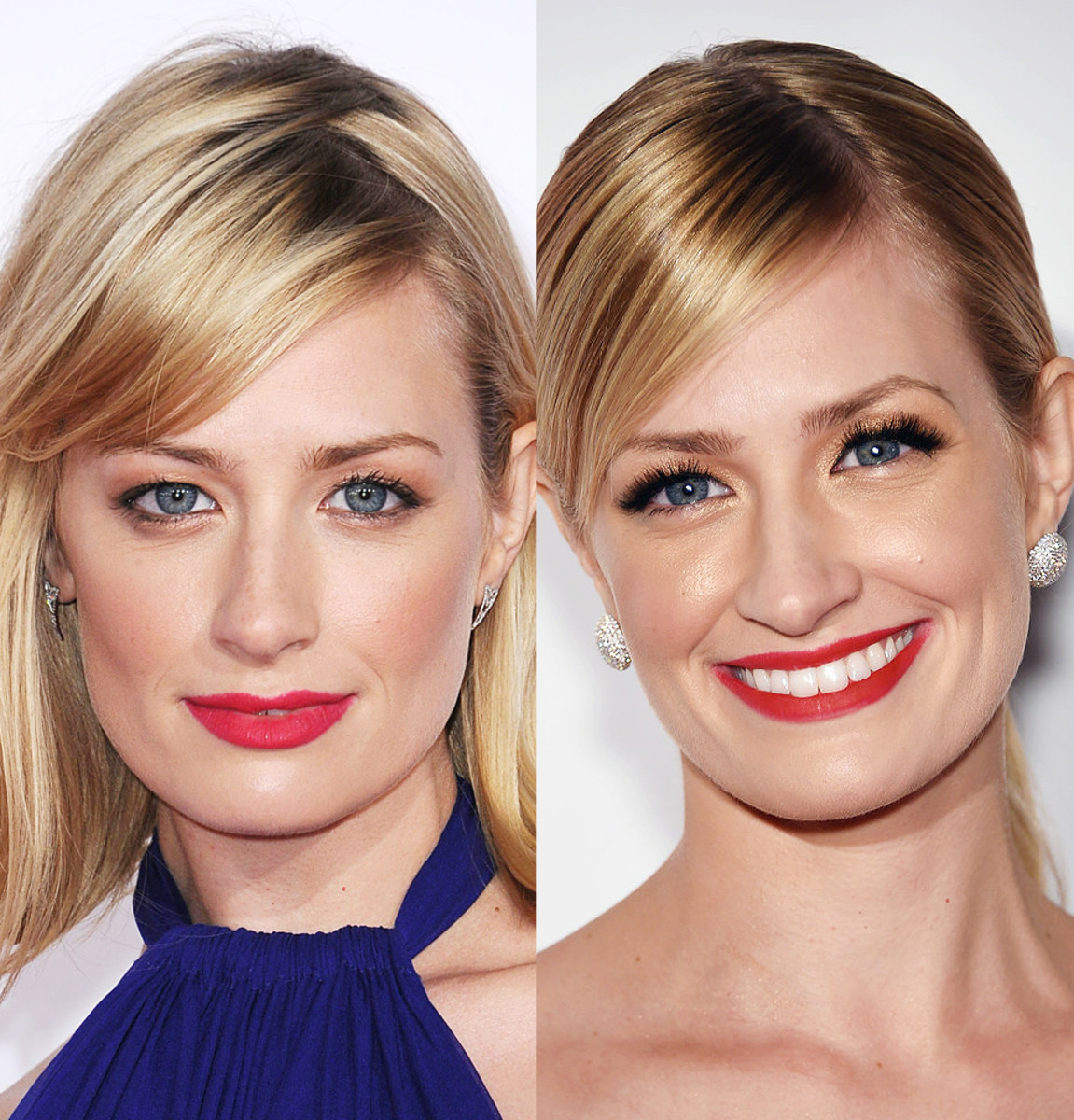 Beth Behrs 2015 makeup March and June false lashes overload