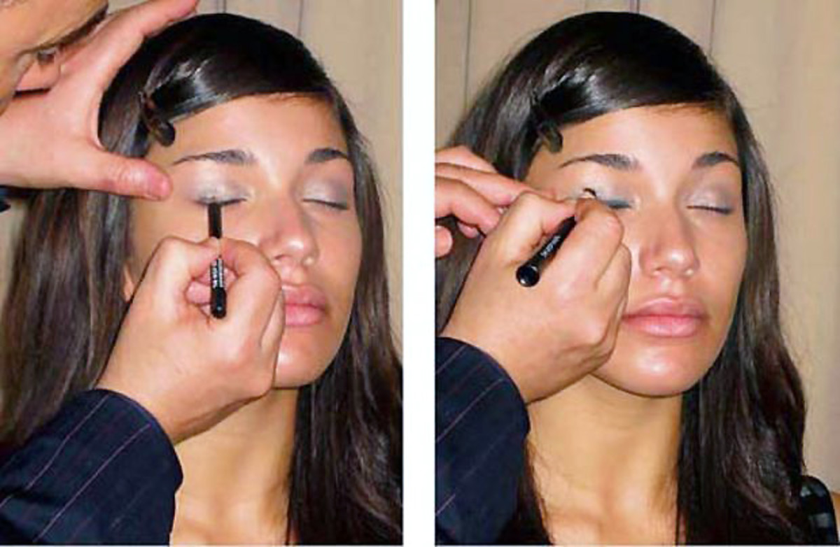 2 minute smoky eyes step 1 and 2
