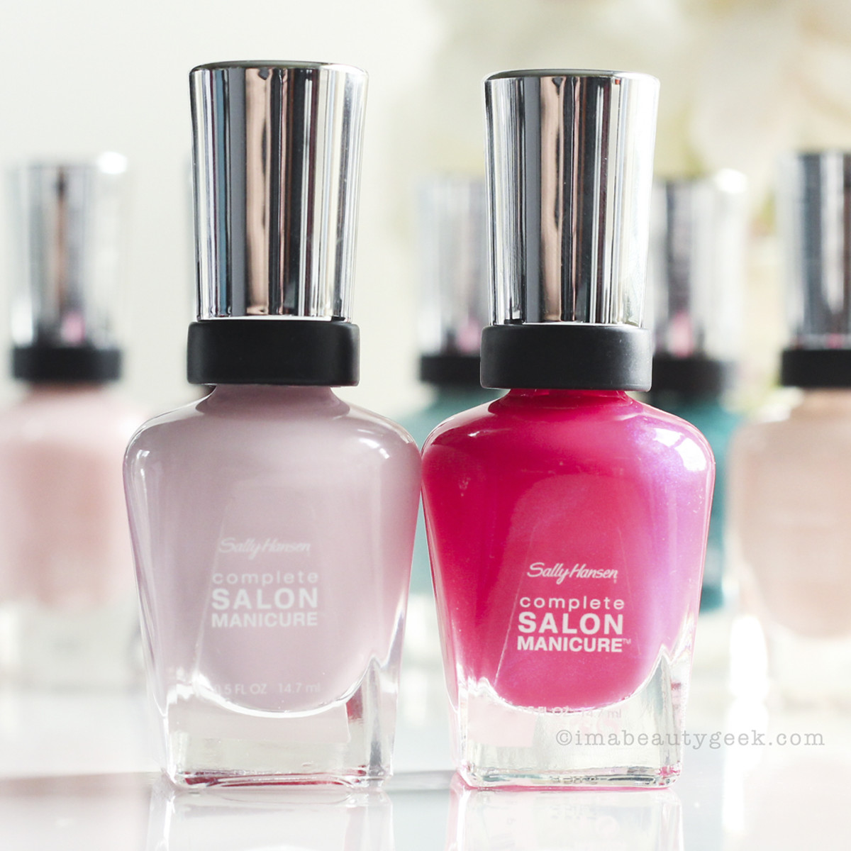 Sally Hansen Complete Salon Manicure in Pink a Card and Back to the Fuchsia