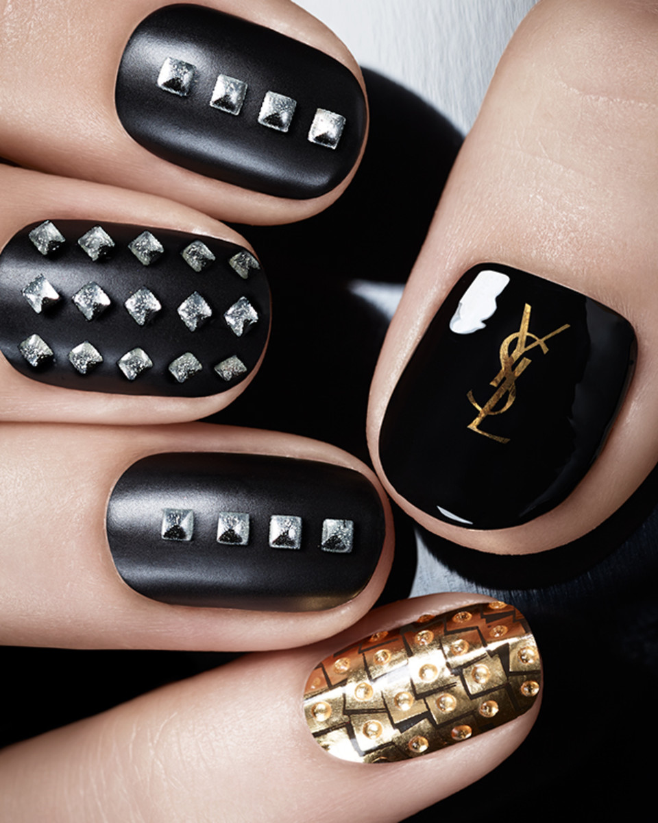 YSL Pretty Metal Fall 2015 Nail Applique stickers
