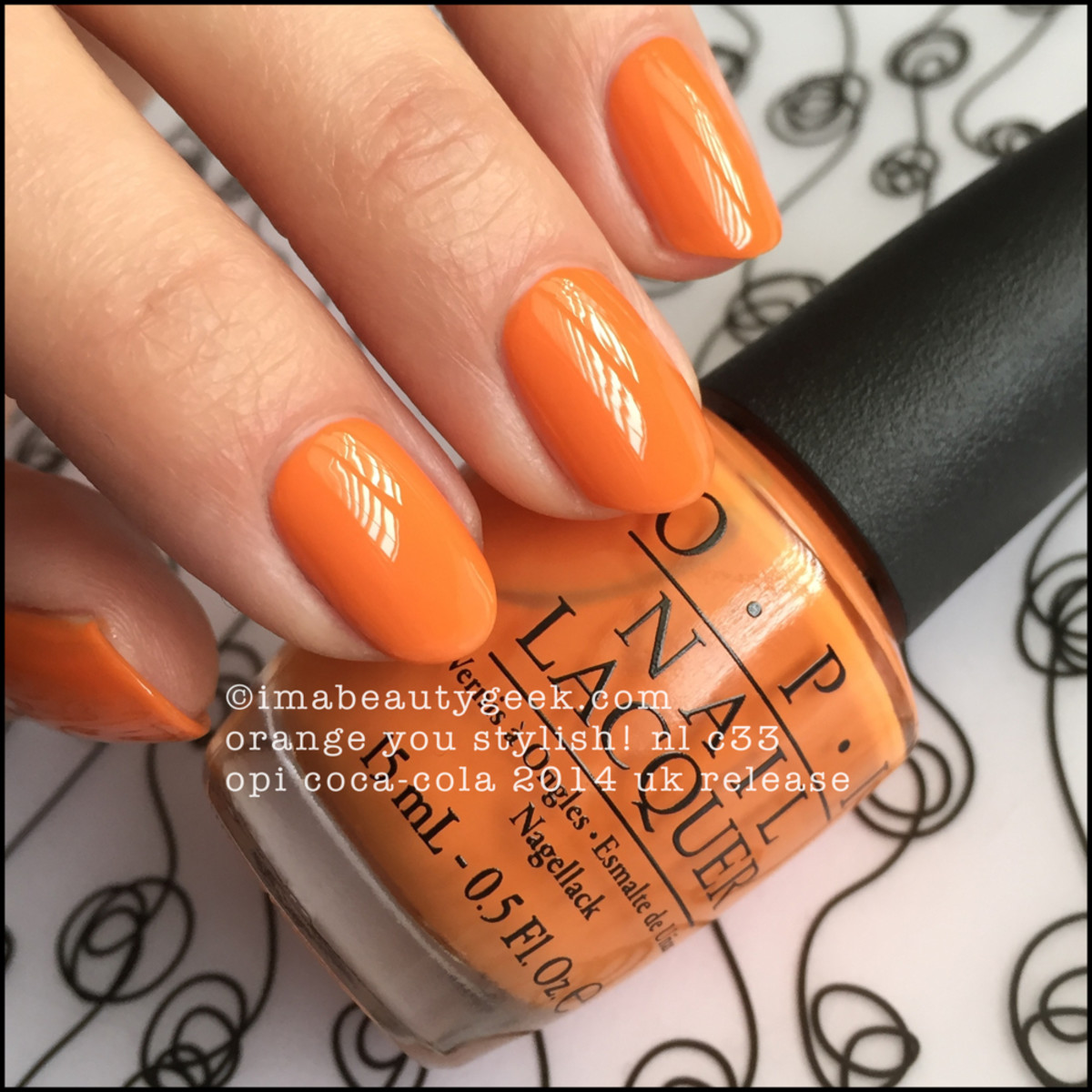 OPI Orange You Stylish OPI Coca Cola UK Release