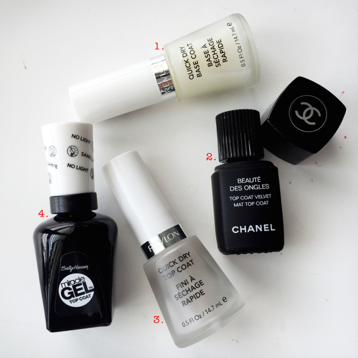 ManiGeek's Favourite Base Coat, Top Coats, and Matte Coats