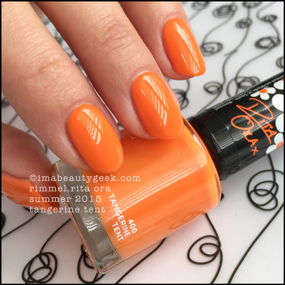 Rimmel Rita Ora Tangerine Tent Summer 2015 Nail Polish