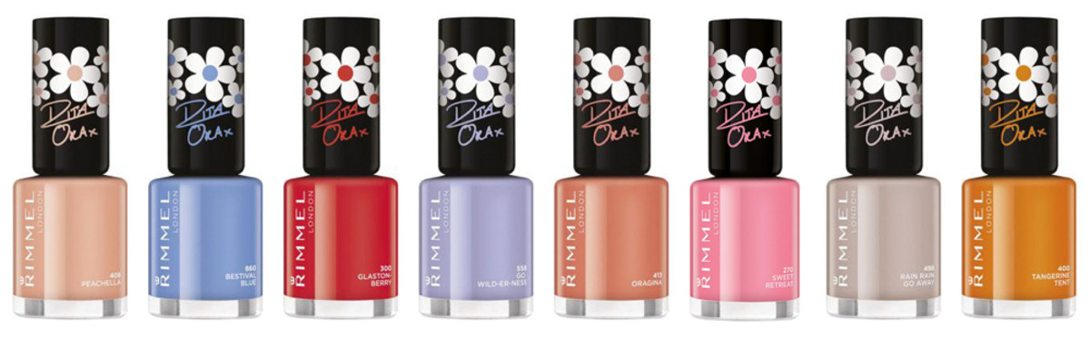 Rimmel Rita Ora 8 shade Summer 2015 Collection
