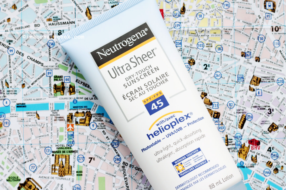 Neutrogena Sheer Touch SPF 45 sunscreen_prep for summer road trip