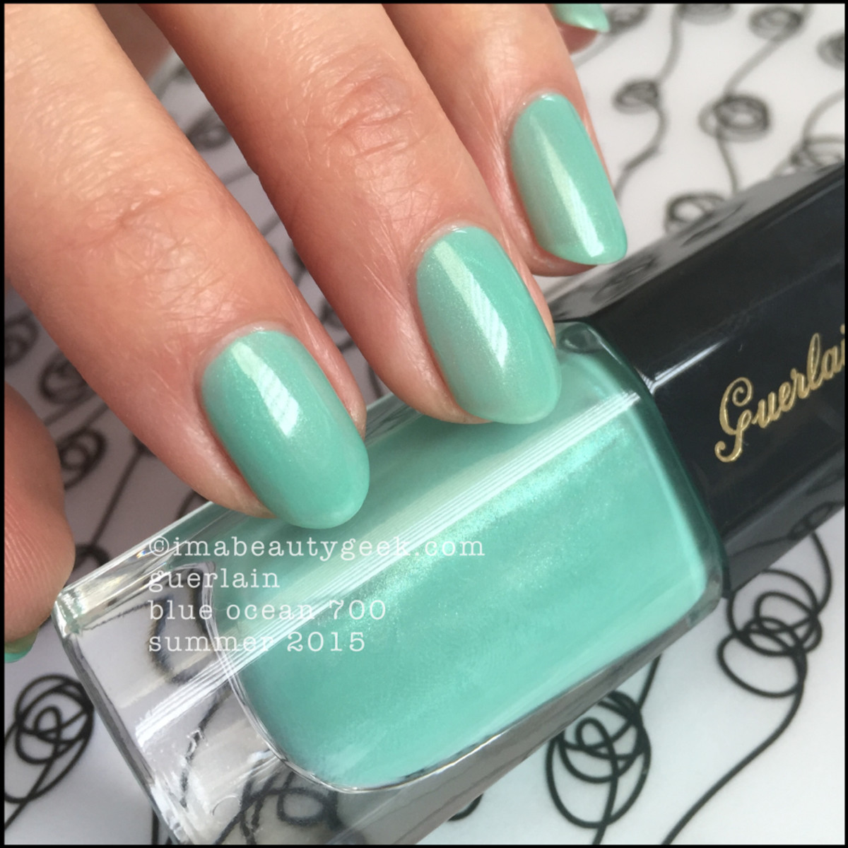 Guerlain Blue Ocean Nail Polish swatch Summer 2015_2