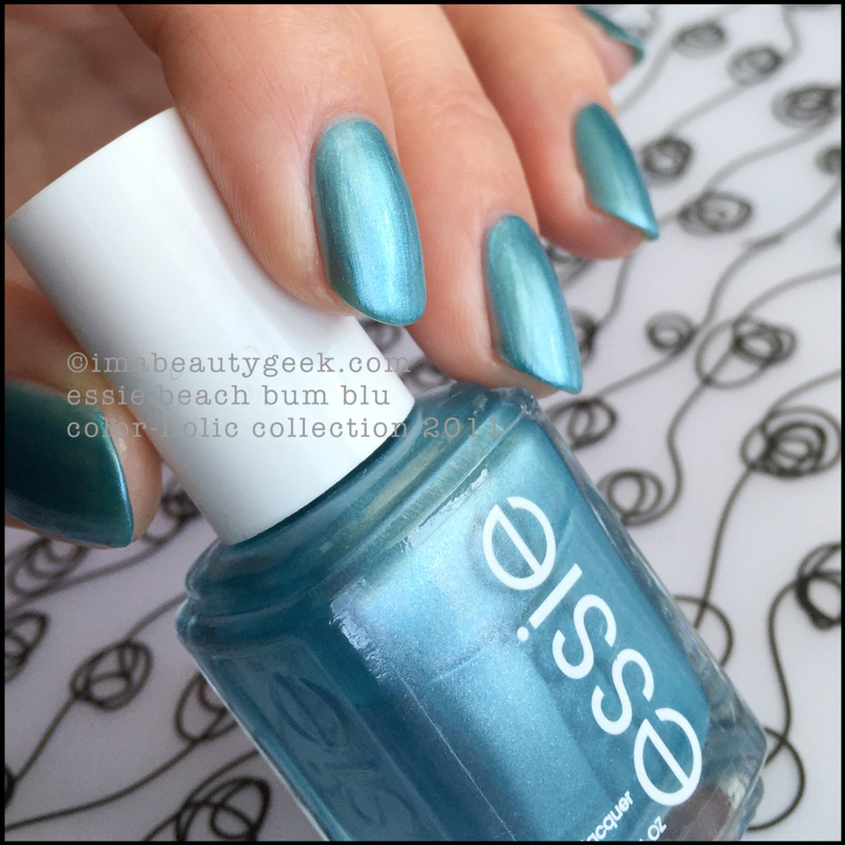 Essie Beach Bum Blue 2011 ColorHolic Collection Beautygeeks