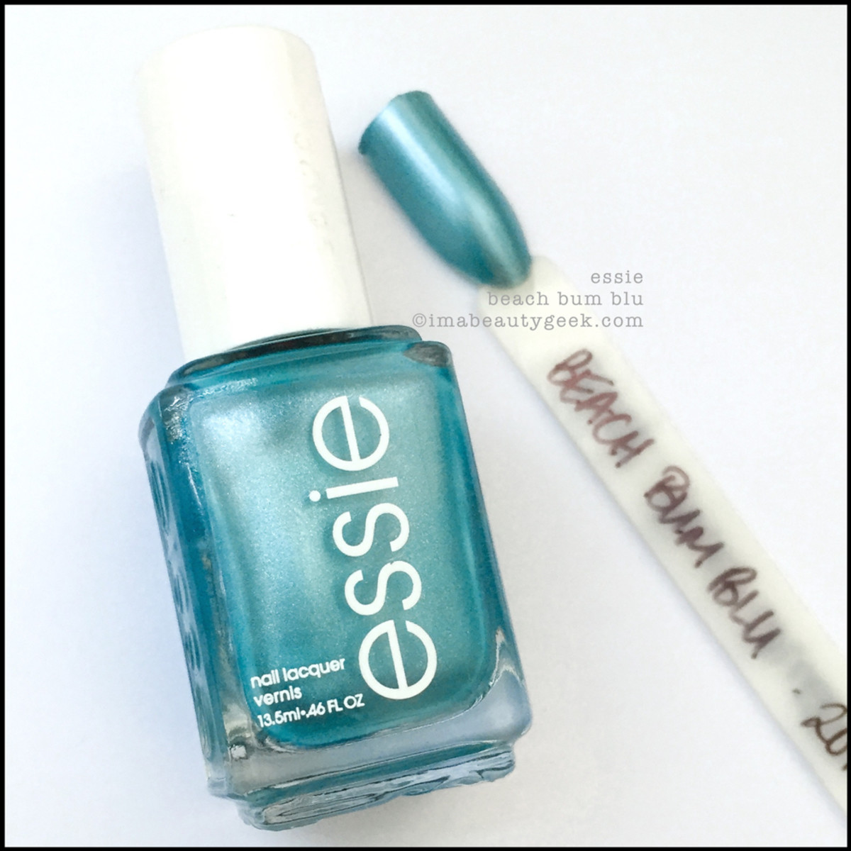 Essie Beach Bum Blue Manigeek Swatch Header