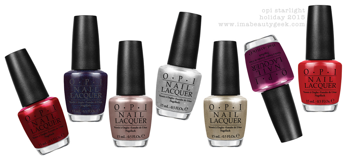 OPI Starlight Collection 2015 Holiday Bottleshots
