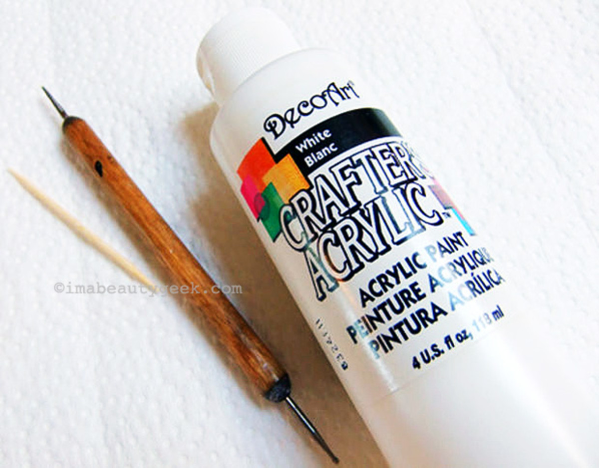 Crafter's acrylic paint_use for dot manicures
