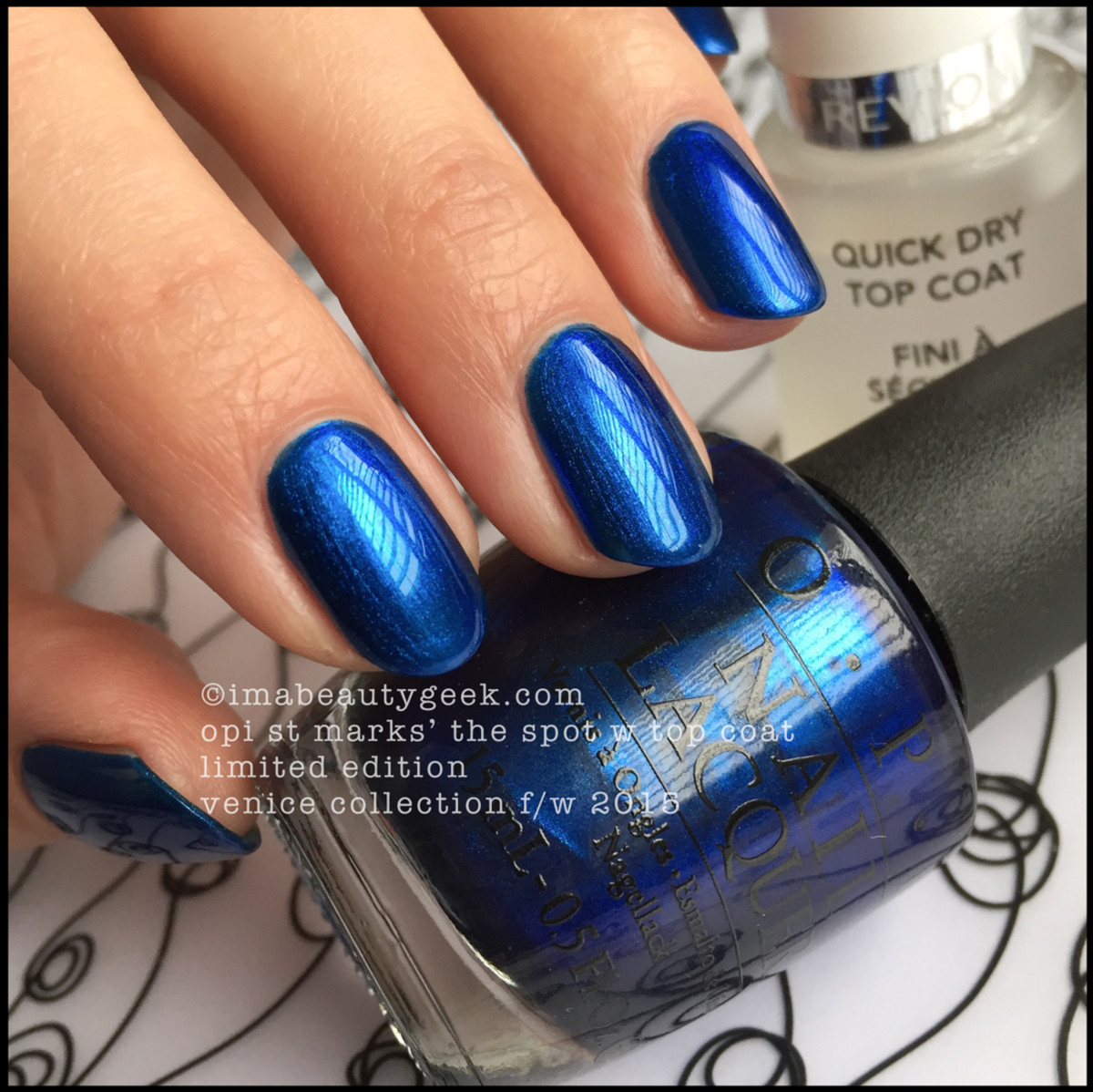 OPI Venice Swatches OPI St Marks the Spot w TopCoat