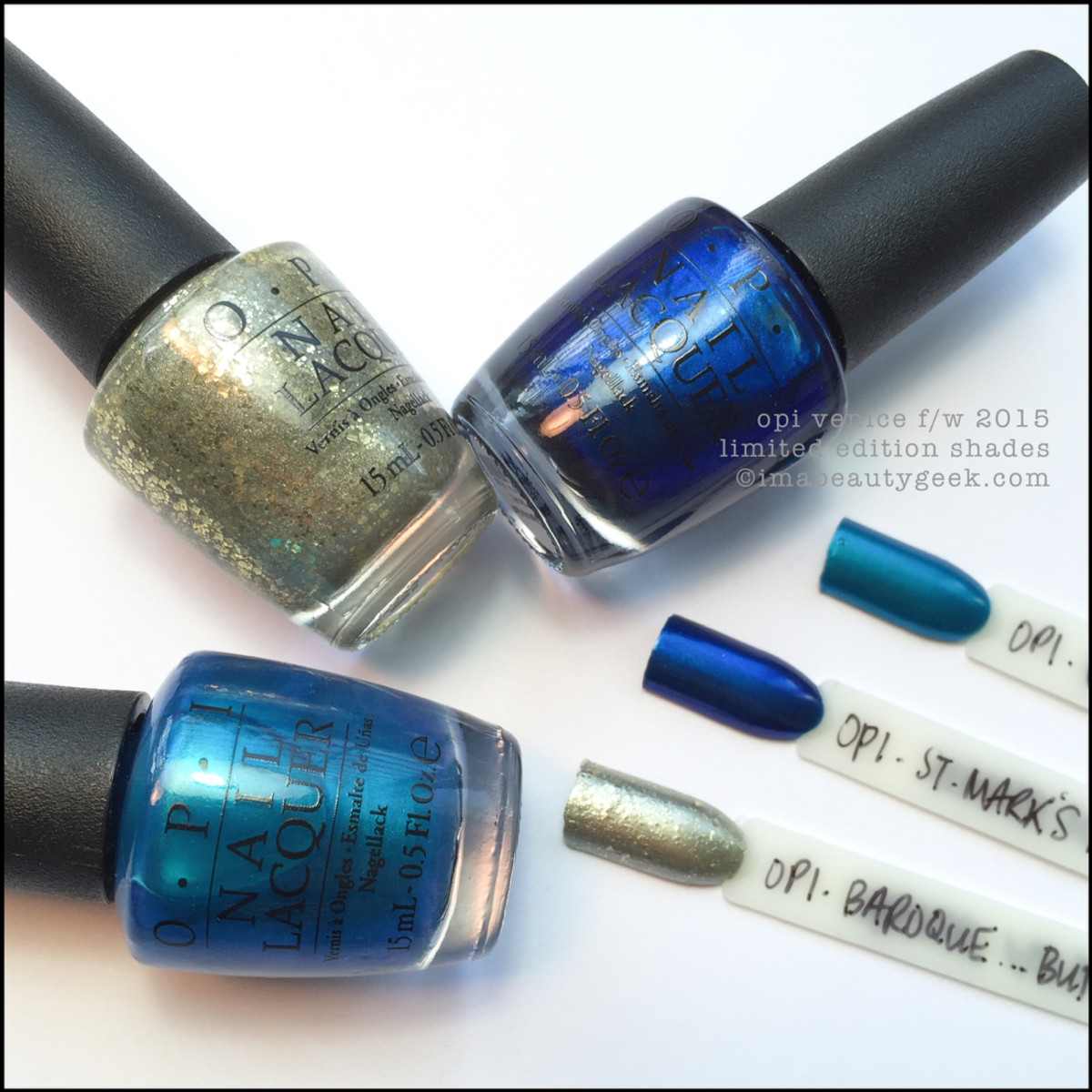 OPI Venice Collection Limited Edition Shade Swatches and Comparisons