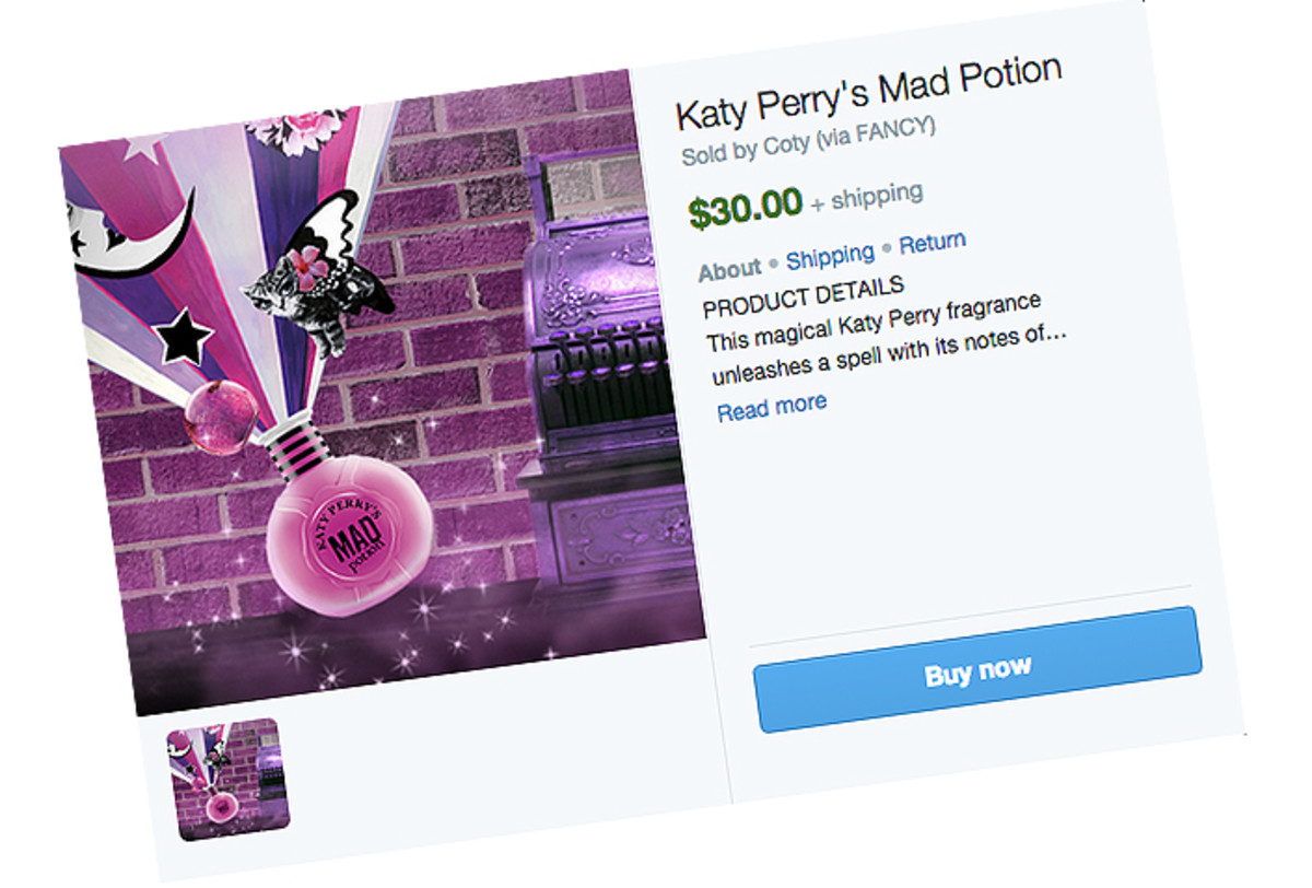 katy perry sells mad potion on twitter
