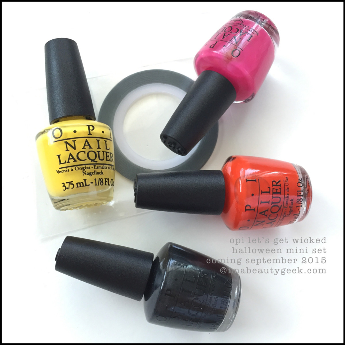 OPI Halloween 2015 OPI Lets Get Wicked Mini Set with tape