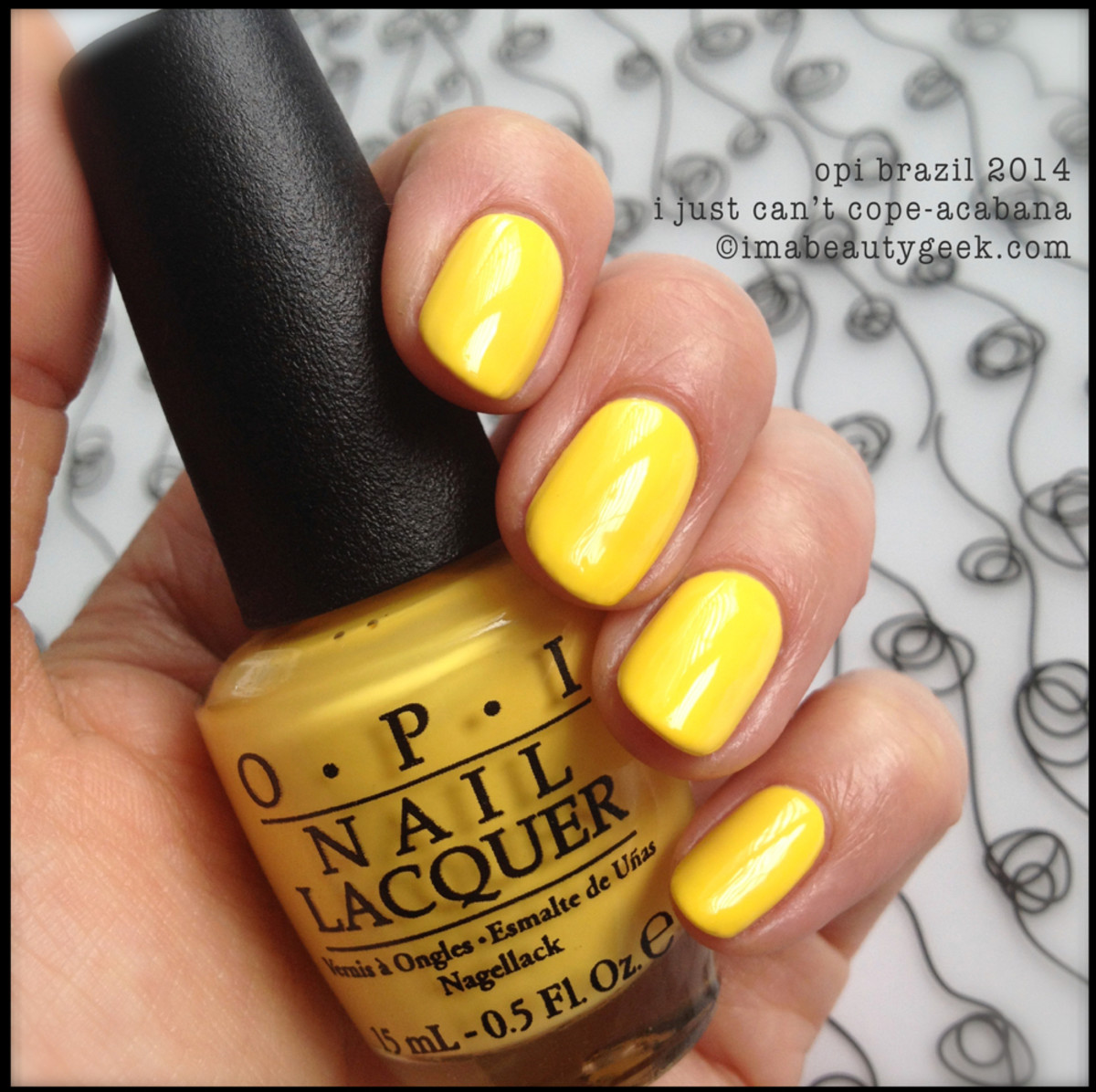 OPI I Don't Bite aka OPI I Just Can't Cope-acabana