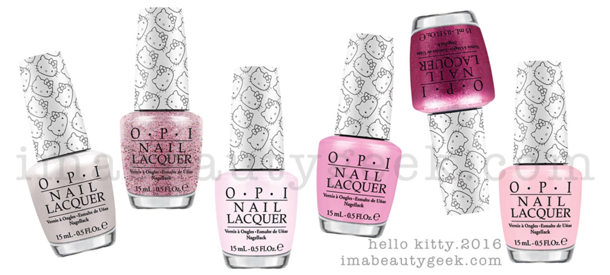 OPI Hello Kitty Collection 2016 Top Beautygeeks