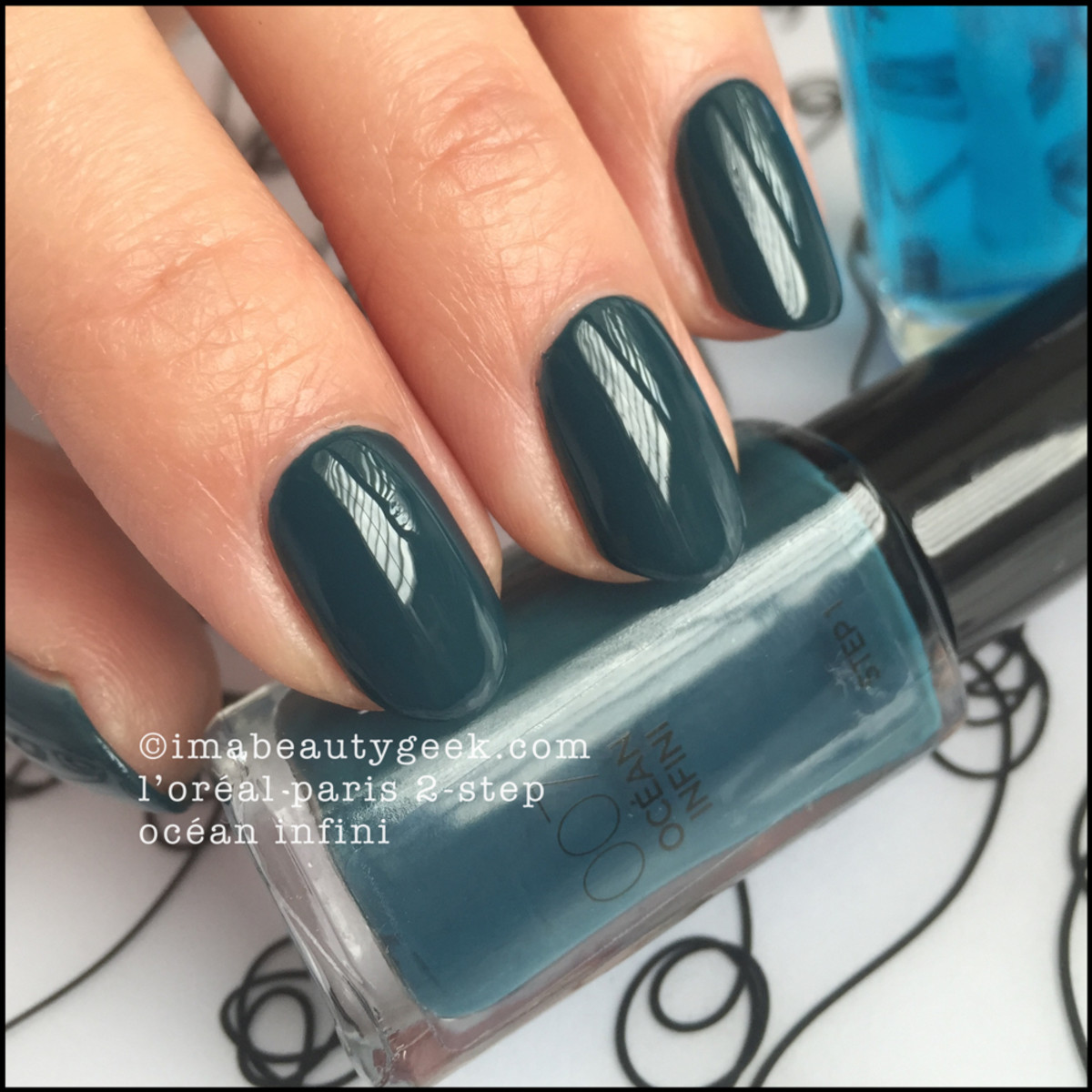 LOreal Paris 2Step Nail Polish Ocean Infini Beautygeeks Swatch
