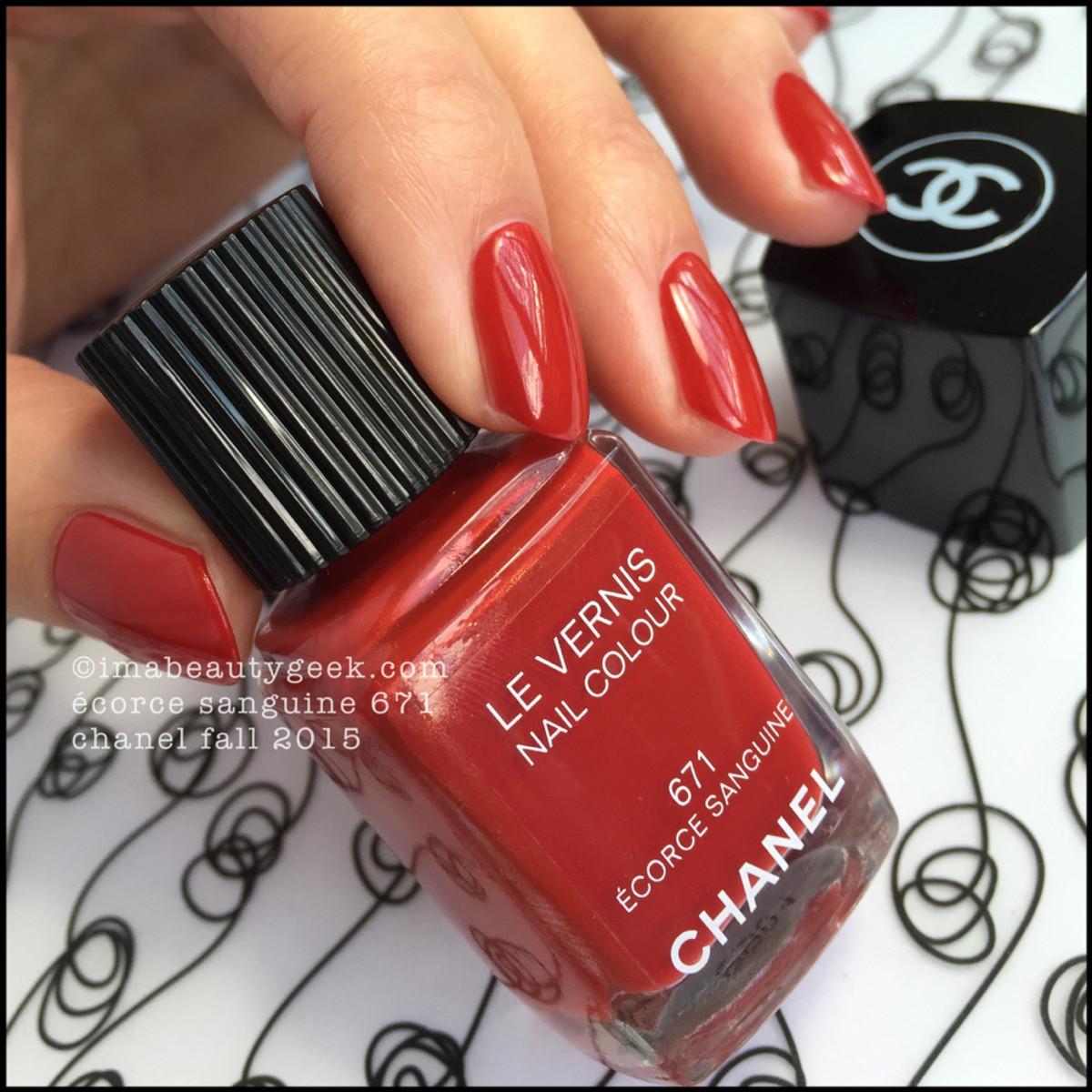 Chanel Fall 2015 Ecorce Sanguine 671 Nail Polish Vernis