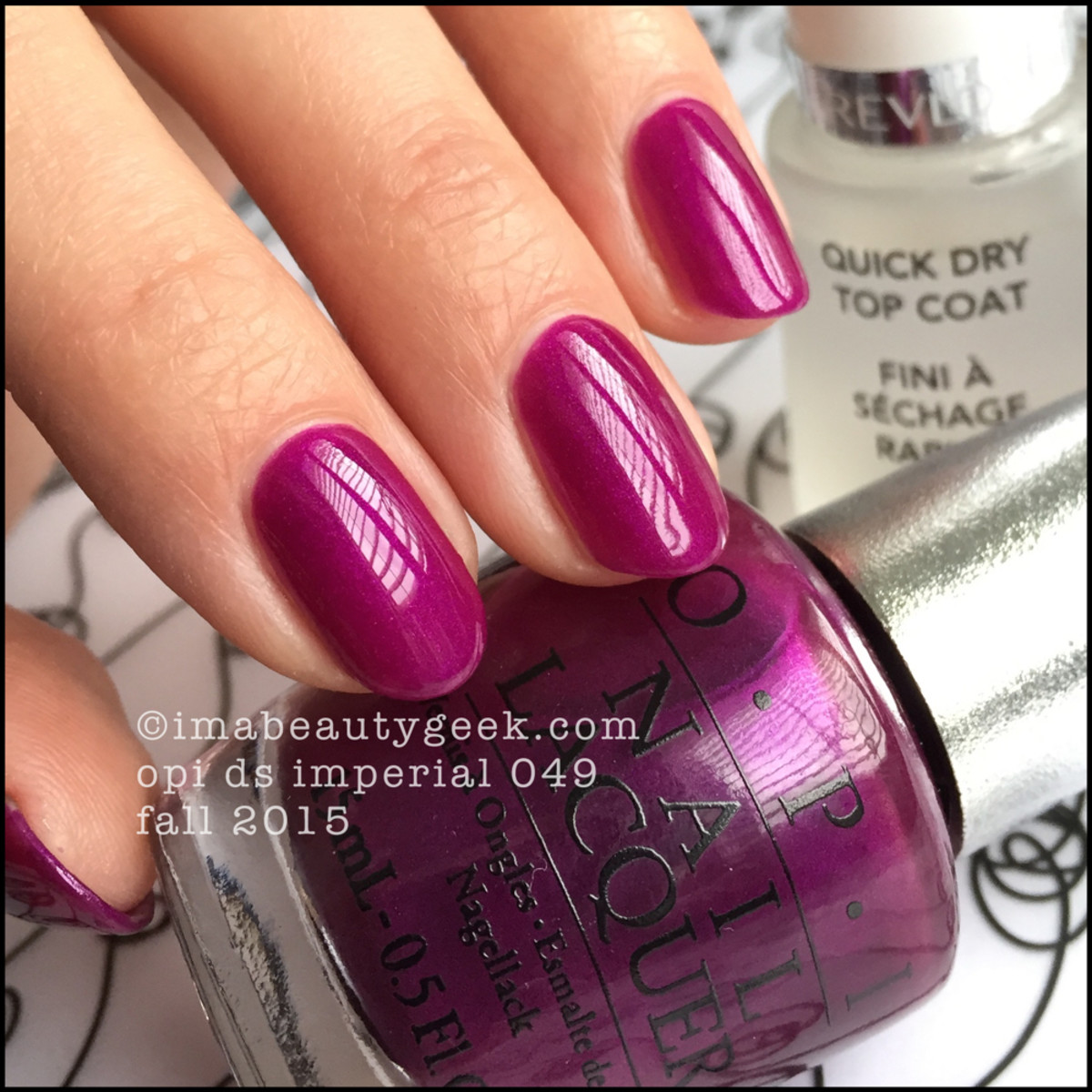 OPI DS Imperial 049 Fall 2015 with top coat