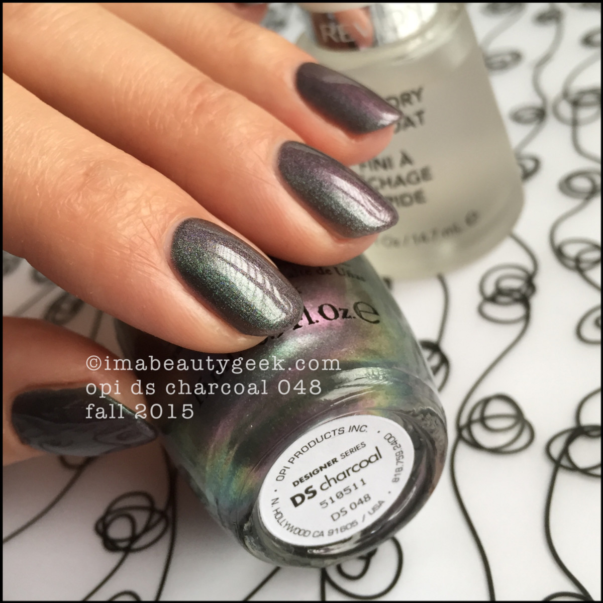 OPI DS 2015 Charcoal with top coat_2