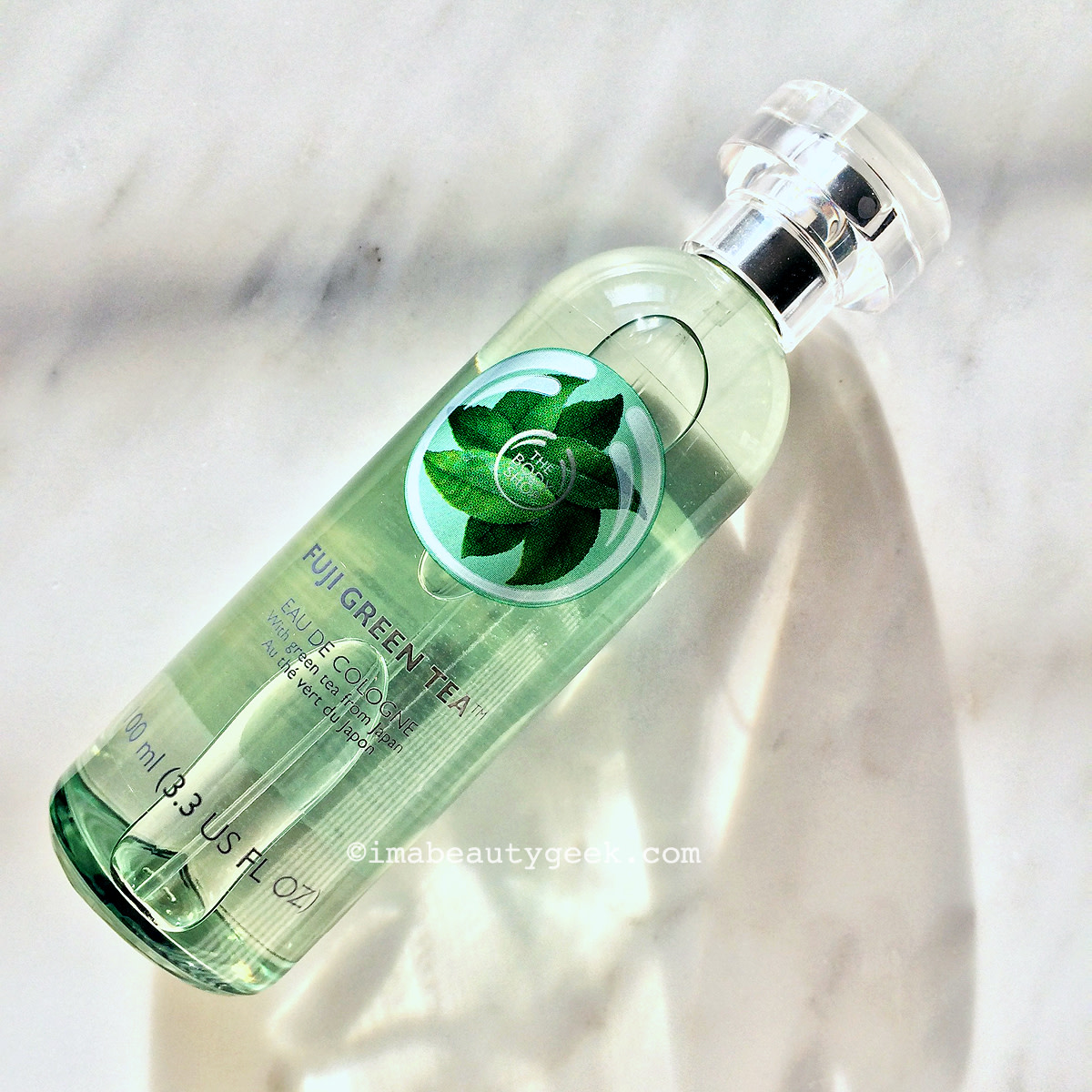 Spraycation fragrance: The Body Shop Fuji Green Tea eau de cologne