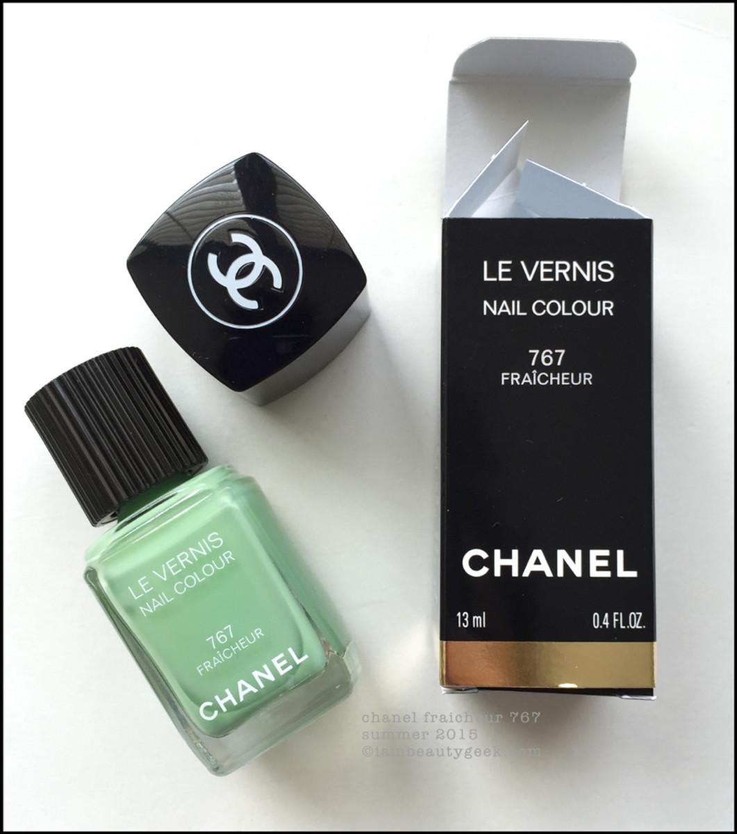 Chanel Le Fraicheur Nail Polish Le Vernis Swatch Beautygeeks