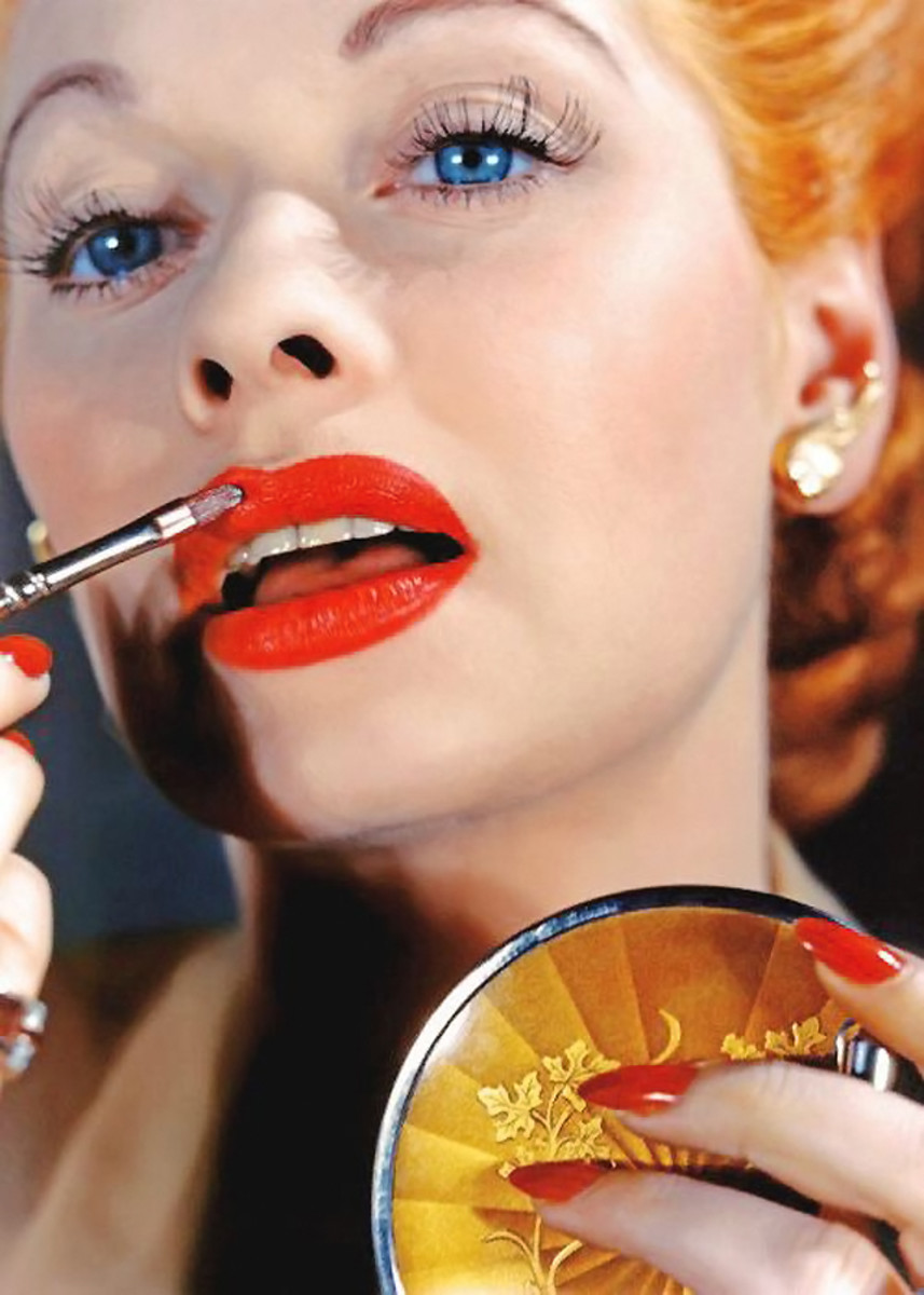 first lipstick you ever bought...Lucile Ball lipstick