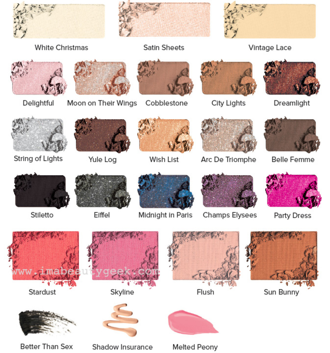 Too Faced Holiday 2015_Le Grand Palais shade names