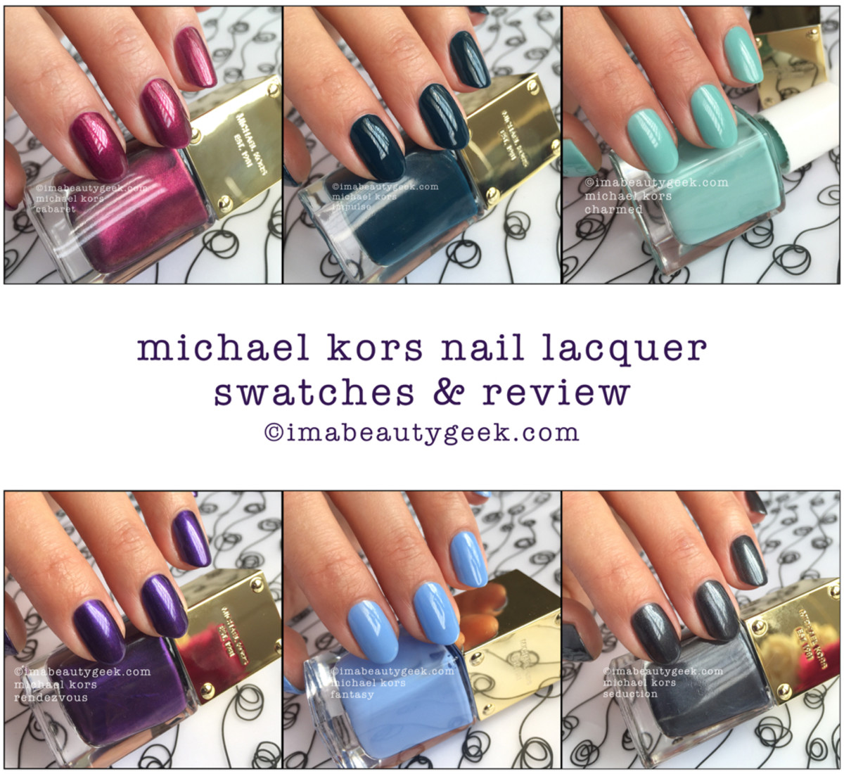 Michael Kors Nail Polish Swatches Beautygeeks Composite