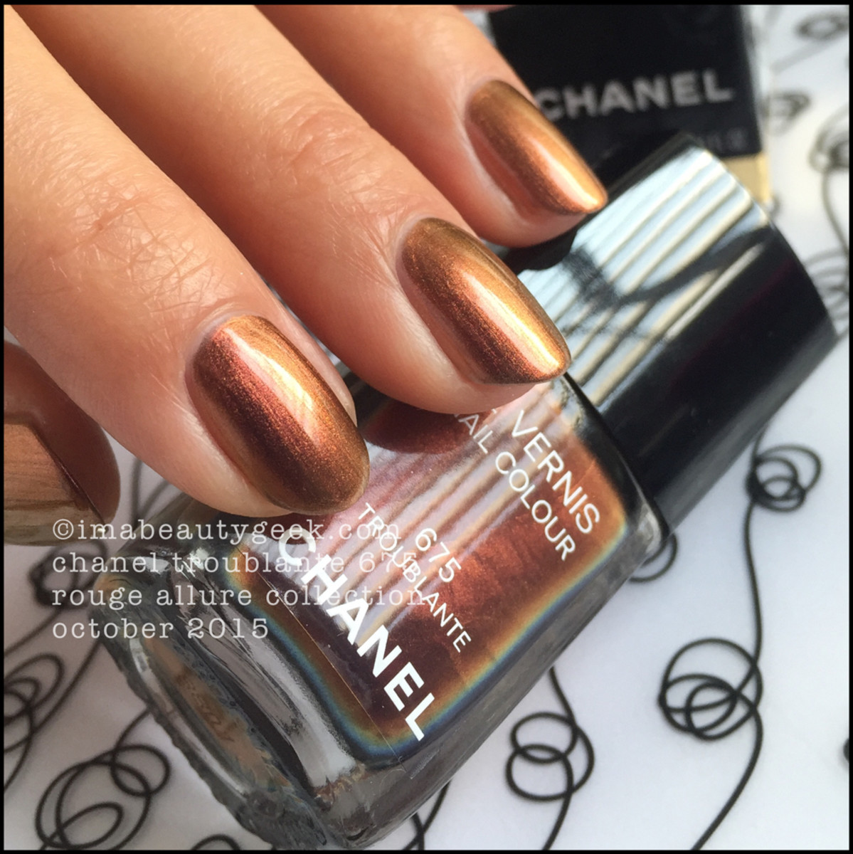 Chanel Le Vernis Troublante 675 Rouge Allure Collection 2015 _ 3