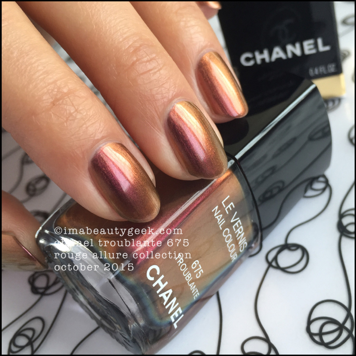 Chanel Troublante Rouge Allure Collection Le Vernis 2015_6