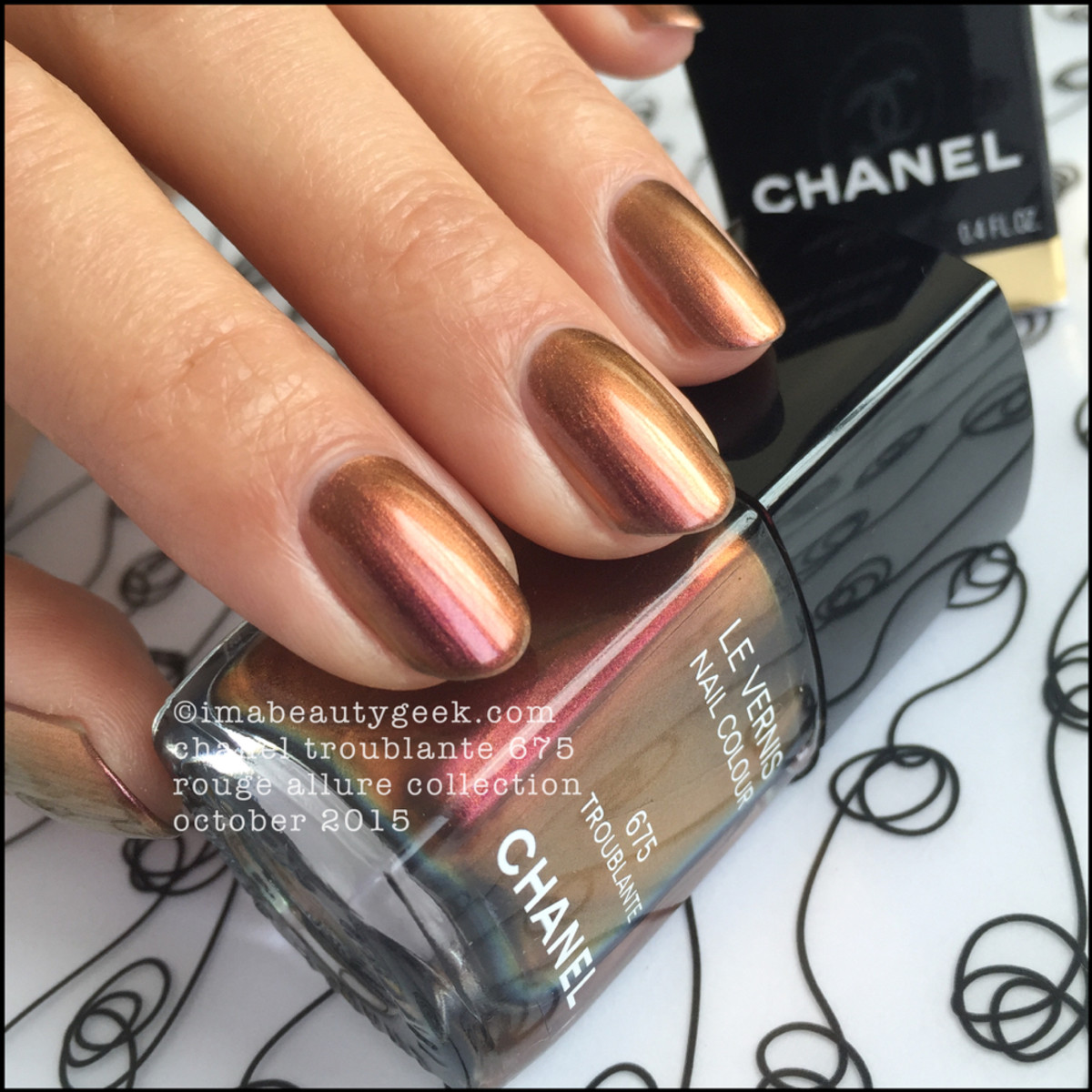 Chanel Troublante Nail Polish Vernis Rouge Allure 2015_5